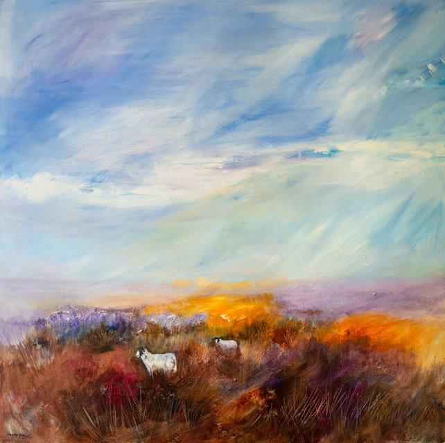 A Light Breeze on Beeley Moor Acrylic (101 x 101cm)