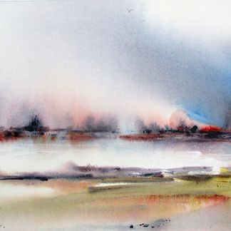Misty Morning Watercolour