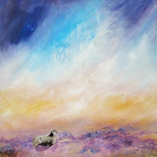 Sheep on the Moor Acrylic (72 x 88 cm)