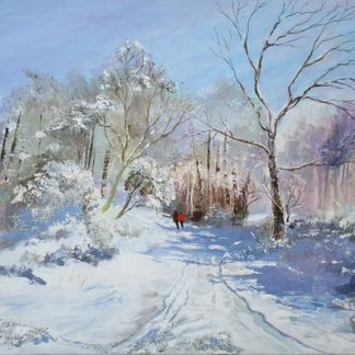 Snow at Tansley Acrylic (60 x 76 cm)