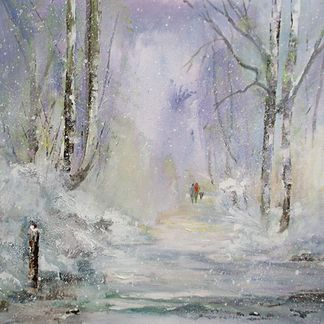 Winter Woodland, Willersley Castle Acrylic